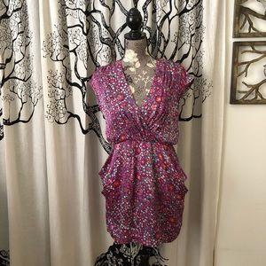 Jodi Arnold Silk Floral Mini Dress SZ 6/8